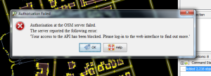 Error while using JOSM for OSM imports.